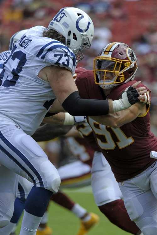 Redskins: Kerrigan, Smith not worried about low sack total