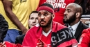 Rockets' Carmelo Anthony reacts to first game coming off bench