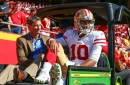 Jimmy Garoppolo wanders into 49ers locker room ... and quickly leaves