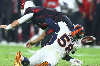 Broncos force 5 turnovers, score twice on 'D' in rout of Cardinals