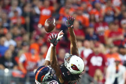 """Larry Fitzgerald to Chris Harris Jr: """"You guys are way better than your record."""""""