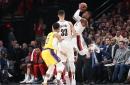 Blazers Blast Lakers in Opener, 128-119