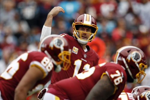 Redskins QB Smith is adjusting to a new team, and an ever-rotating cast of receivers
