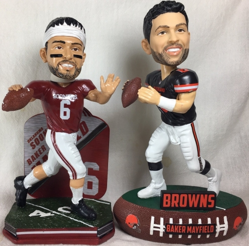 2 Baker Mayfield bobbleheads are out