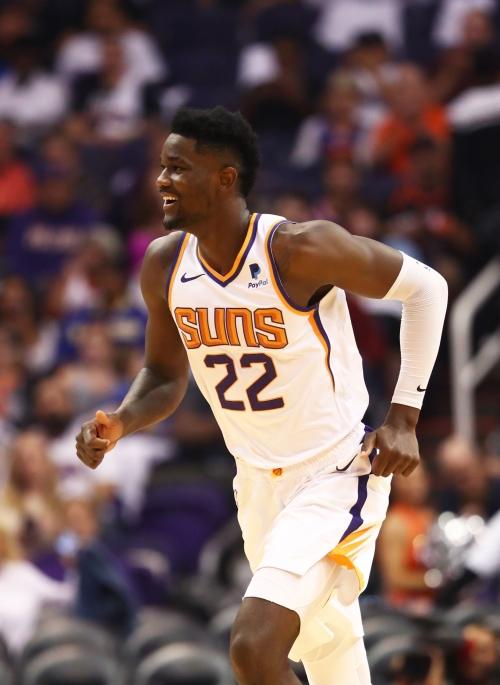 Phoenix Suns rookie Deandre Ayton scores and rebounds, but more importantly he entertains