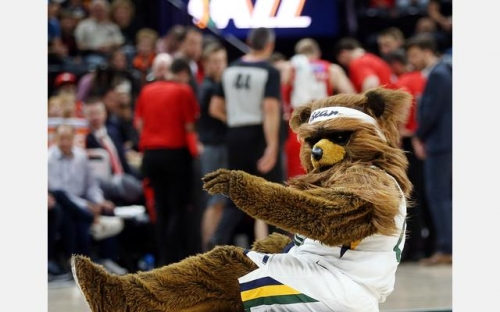 Performer behind the Jazz Bear has been fired by the team