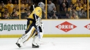 Predators' Rinne leaves game vs. Flames with apparent injury