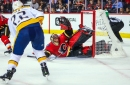 Nashville Predators 5, Calgary Flames 3: Rinne injured, Fiala scores in roller-coaster victory