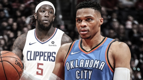 Thunder star Russell Westbrook gets into verbal spat with Clippers' Montrezl Harrell