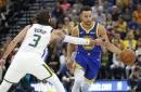 Jerebko, Durant lead Warriors past Jazz 124-123