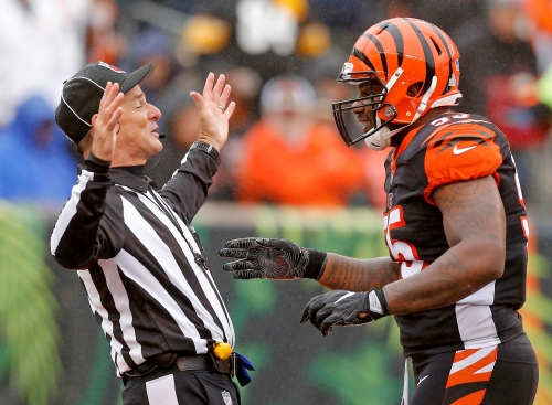 NFL fines Cincinnati Bengals' Vontaze Burfict 112K for hits against the Steelers