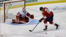 Panthers' Aleksander Barkov whiffs badly on a penalty shot