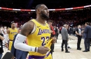 Highlights: Lakers' LeBron James brings Staples Center crowd to its feet with two-handed dunk
