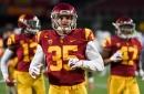 USC linebacker Cameron Smith makes brief return from hamstring injury at Utah