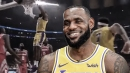 Video: LeBron James' first slam in LA for the Lakers