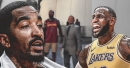 J.R. Smith look-a-like steals the scene outside Staples Center prior to LeBron James' home debut
