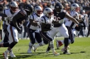 The Latest: Patriots RB Michel out with knee injury