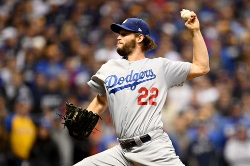 Video: Dodgers' Clayton Kershaw already at Fenway Park throwing in bullpen