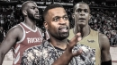 Stephen Jackson reacts to Rajon Rondo-Chris Paul fight during Rockets-Lakers game