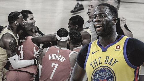 Warriors' Draymond Green entertained by Lakers-Rockets fight, but thinks suspensions were 'garbage'