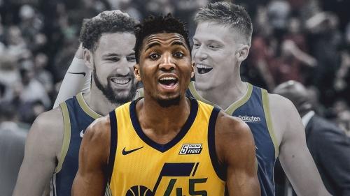 Donovan Mitchell responds to Warriors' Klay Thompson saying Jazz didn't want Jonas Jerebko