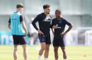 Man City defender Kyle Walker trains ahead of Champions League game