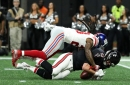 Giants at Falcons halftime score: Falcons lead Giants 10-3