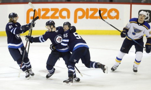 Trip ends on sour note as Blues lose to Jets in overtime