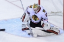 Hawks goalie Forsberg clears waivers, heads to AHL