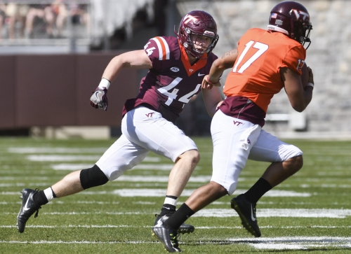 Virginia Tech starting LB Dylan Rivers suffers ankle injury against Georgia Tech