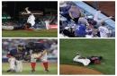 Red Sox World Series: Eduardo Nunez battles through collisions as Boston runs out of players