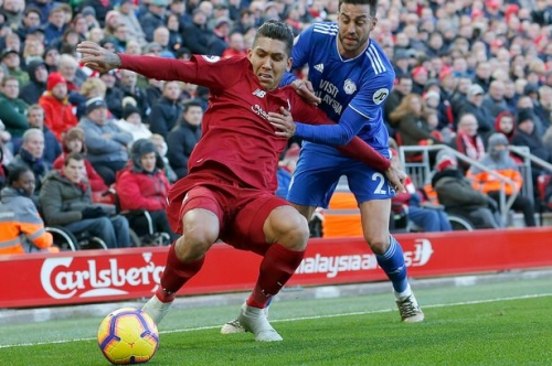Roberto Firmino's remarkable piece of skill in the Liverpool v Cardiff City game has left lots of people stunned