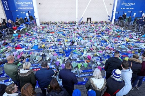 How the footballing world paid tribute to Leicester City owner Vichai Srivaddhanaprabha and victims of tragic helicopter crash