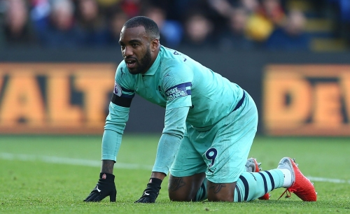 Unai Emery unhappy with Alexandre Lacazette 'mistakes' as Arsenal draw with Crystal Palace