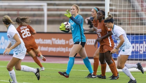 Texas moves on at the Big 12's soccer tournament after ousting Kansas in penalty kicks