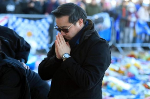 Tragic Leicester City owner Vichai Srivaddhanaprabha's son who missed helicopter flight by chance pays tribute