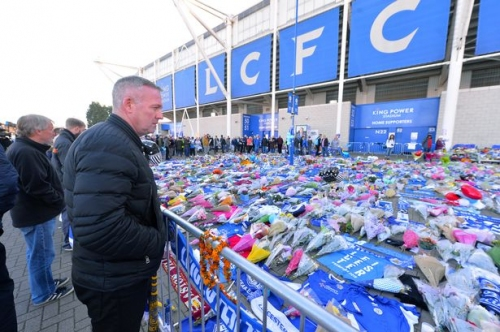 Former Stoke City boss joins mourners at Leicester City