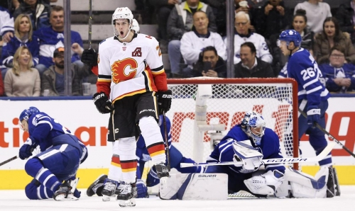 Leafs offence cold minus Matthews in loss to Flames