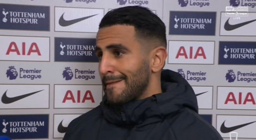 Riyad Mahrez pays emotional tribute to Leicester City owner Vichai Srivaddhanaprabha after Manchester City beat Tottenham