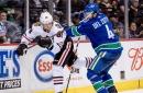 Hawks begin West Coast swing against Canucks