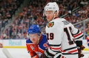 Hawks continue road trip vs. Oilers