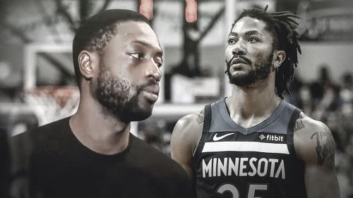 Heat guard Dwyane Wade discusses Derrick Rose's career night for Timberwolves