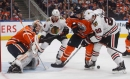 Koskinen earns 1st NHL shutout as Oilers beat Blackhawks