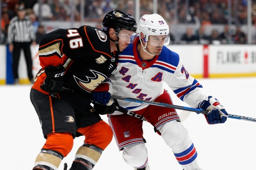 Ducks rally for a point, but fall to Rangers in shootout as skid reaches 7 games