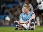 Kevin De Bruyne out for up to six weeks with fresh knee ligament setback