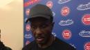 Detroit Pistons coach Dwane Casey gives an update on Reggie Bullock