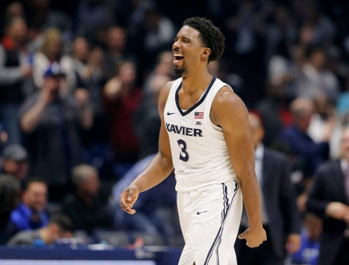 A basketball and a smile: Xavier star Quentin Goodin is ready to run the show