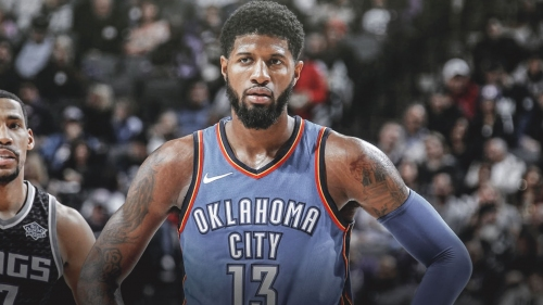 Thunder' Paul George scores 10,000th career point vs. Wizards