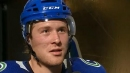 Boeser says he and Pettersson didn't rehearse bank-pass play