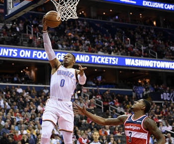 NBA roundup: Thunder beat struggling Wizards for 4th straight win